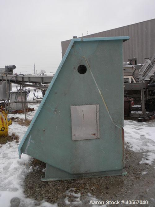 Used- Bauer Hydrasieve Static Screener. Fiberglass housing, 72'' wide x 53'' long 304 stainless steel gravity fed screen.