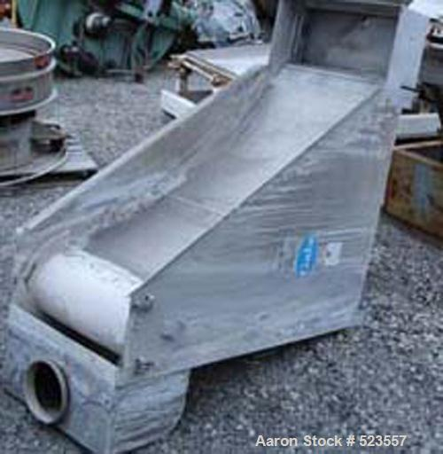 """USED: Gala fines sieve, model 60 FRS, stainless steel construction, 24"""" wide x 4' long."""