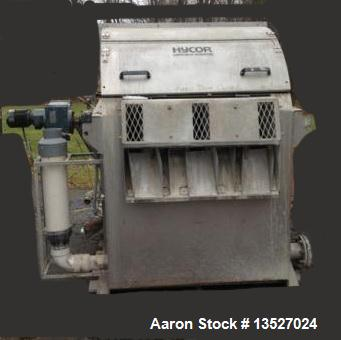 "Used-Hycor Model DS483, 45 Micron Discostrainer.  With (6) 48"" diameter discs (3 sets of 2 discs).  Electrical requirements:..."