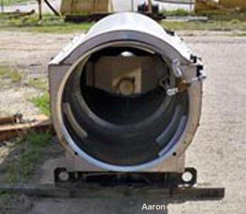 "Used-Hycor Rotary Drum Thickener, model HRS 3672M. 304 Stainless steel, screen opening size .020"", cylinder 36"" diameter and..."
