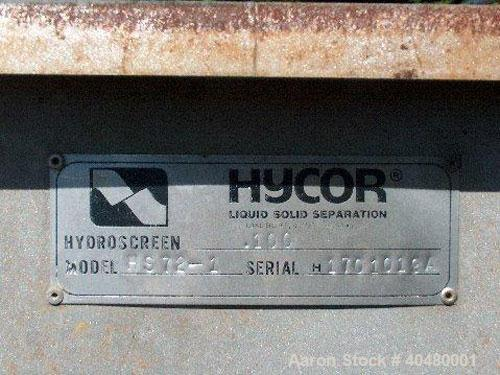 "Used-Hycor Separator, model HS72-1. Screen size 4 x 6, 7' high x 6' wide; side dimensions 7 x 5. Pipe sizes in rear 14"" on b..."