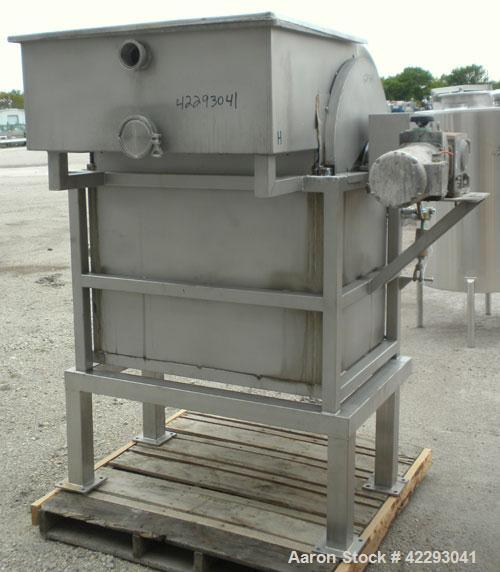 Used- Sani-Matic Rotary Drum Strainer, Model ERDS 25 X 36, 304 Stainless Steel. 25'' Diameter x 36'' wide rotary wedge wire ...