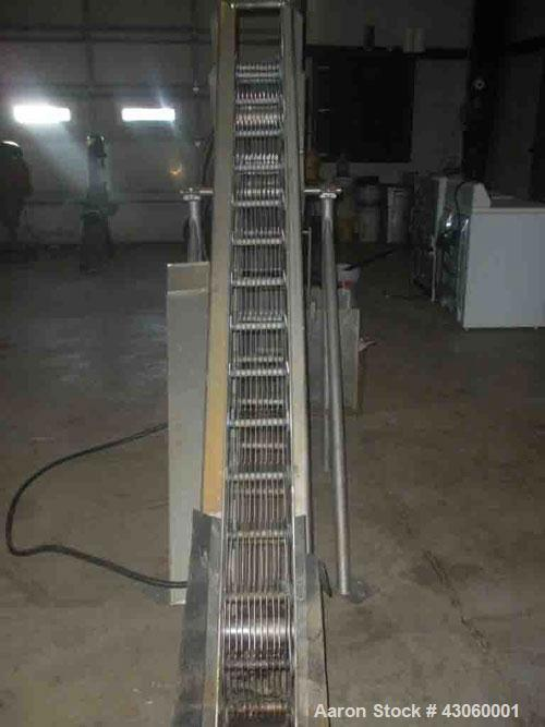 Used-Wiesemann Engineering Bar Screener, Model F5304-11-96. Stainless steel construction, driven by 3/4 hp drive motor, 230/...
