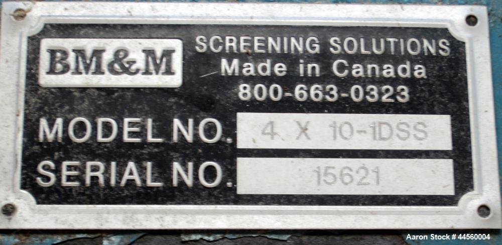 Used-BM & M 10' X 4' X 2/2.5' CORN SCALPER, Model 4 X 10-1DSS.