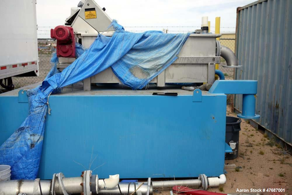 Used- Meva Fine Screen Monoscreen RSM. 1 mm slot width, 3 mm bar thickness, 100 mm canal sealing thickness. Busck 71B motor,...