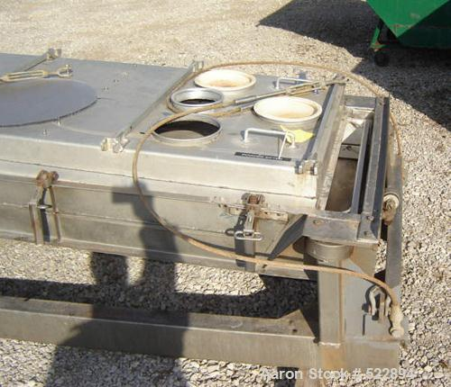 USED: Major weight 145 lbs, minor weight 64 lbs. Aluminum cover,aluminum screen frames and stainless steel pan. Cable suspen...