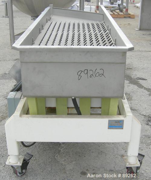 """USED: Allen Machinery ISO Flo Fines removal shaker, model FLD46745, type C, 304 stainless steel. 24"""" wide x 90"""" overall leng..."""