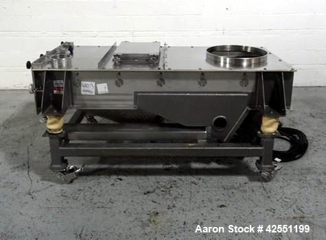 """Used- Best Equipment screen, model BE3960-GB, stainless steel construction, approximately 24"""" wide x 74"""" long deck, single d..."""