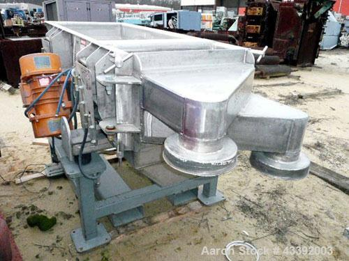 """Used- Carrier Classifying Screen, Model FTD2418S-6.6, Stainless Steel. Approximate 24"""" x 50"""" screen area, 2 deck classificat..."""