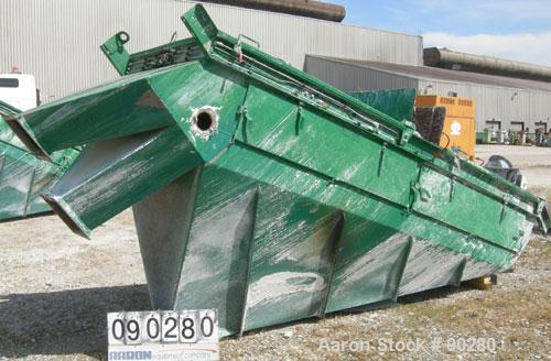 "USED: Derrick Screener model M48-144D-3DD, 304 stainless steel.  2 decks, first deck 40"" wide x 140"" long, second deck 40"" w..."