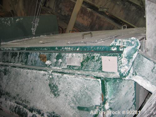 "USED: Derrick Screener model M48-144D-3DD, 304 stainless steel.  2 decks, first deck 40"" wide x 140"" long, second deck 40"" w..."