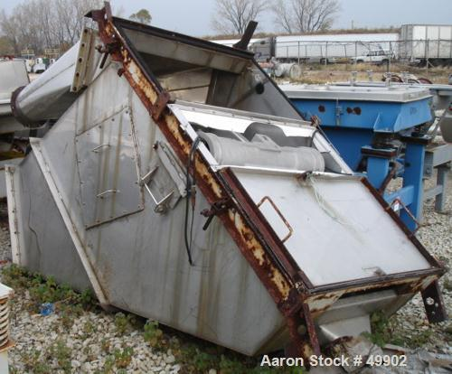 """Used- Derrick Screener, 36"""" x 72"""" Single deck, Stainless Steel. Flat hinged back. Top covers. 1.5 hp, 460V/3600 rpm, eccentr..."""