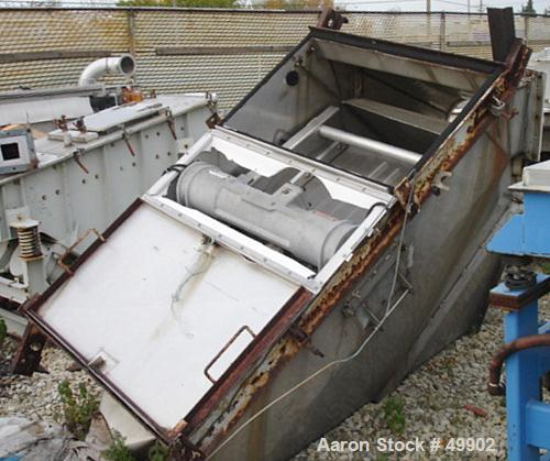 "Used- Derrick Screener, 36"" x 72"" Single deck, Stainless Steel. Flat hinged back. Top covers. 1.5 hp, 460V/3600 rpm, eccentr..."