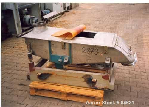 Used- Engelsmann AG Sifter, Type 600 x 1200/1/1.4571
