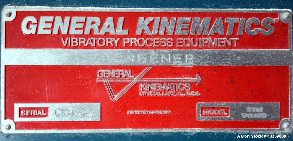 Used- General Kinematics Para-Mount II Single Deck Rectangular Vibratory Screene