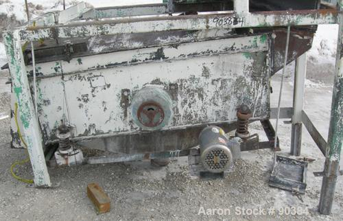 """Used- Prater Screener, Model VS1-15-2E, Carbon Steel. Approximately 15"""" wide x 72"""" long double deck, 2 separation. Top end f..."""