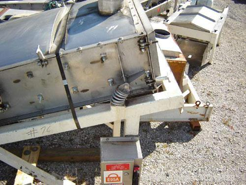 Used-3' Wide X 6 1/2' Long Two Deck Proquip Stainless Steel Screener, Model 3662LDS. Stainless steel construction with cover...