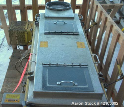 """Used- RotexScreener,Model11A AL/SS, 304 Stainless Steel.20"""" wide x48"""" longsingle deck,2 separation.Clamp down alumin..."""