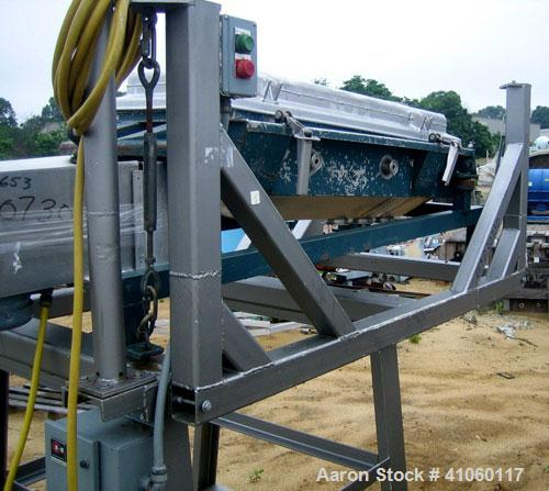 """Used- Rotex Screener, Model 12, Stainless Steel. 20"""" wide x 37"""" long double deck, 3 separation. Top cover, 3 bottom outlets...."""