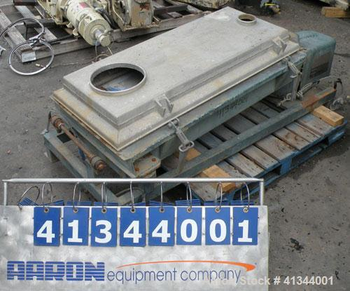 """Used- Rotex Screener, Model 12A AL/SS, 316 stainless steel. 20"""" wide x 37"""" long double deck, 3 separation. Clamp down alumin..."""