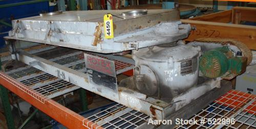 """USED: 30"""" x 60"""" Rotex model 201PS-SS/SS pellet screener, 12.5 squarefeet. Weights are 86 lbs and 33 lbs. 1.5 hp, 230/460 vol..."""