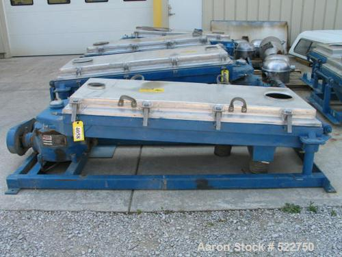 """USED: Rotex 30"""" x 60"""" screener, model 202A-AL/MS, double deck, threeseparations. Aluminum cover and screen frames, carbon st..."""