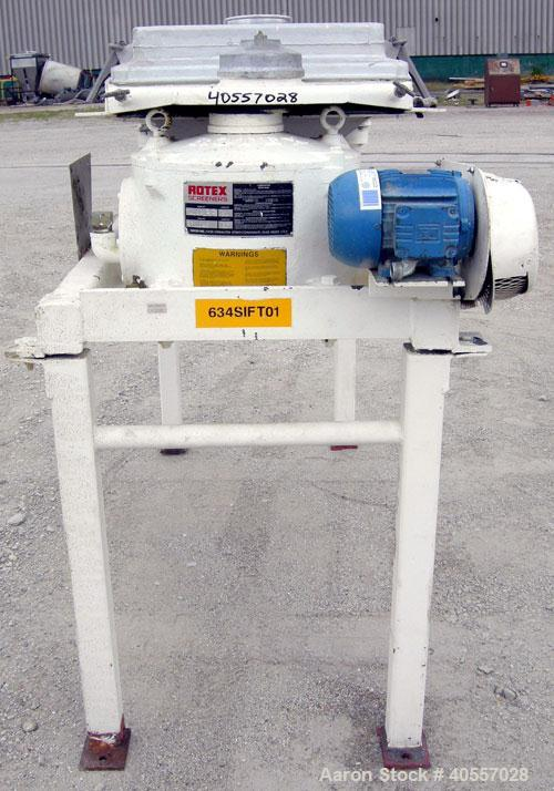 Used- Stainless Steel RotexScreener, model241AASSSS