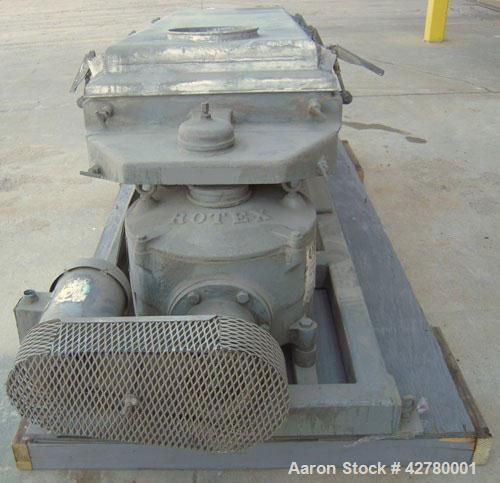 "Used-Rotex Screener, Model 242-SAN.AL.SS. 304 Stainless steel, aluminum screens. 24 1/2"" wide x 66 1/2"" long double deck, 3 ..."