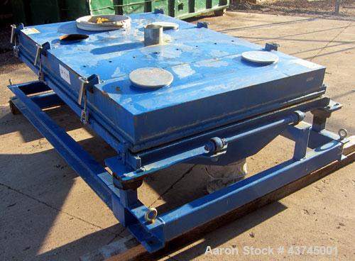 "Used- Rotex Screener, Model 3421GC MWMM, Carbon Steel. Approximately 60"" wide x 84"" long single deck, 2 separation.  Nominal..."