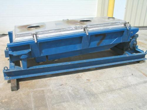 """USED: 30"""" x 60"""" three deck Rotex screener, model 403A-AL-MS. Aluminumcover and screen frames. Automatic tension. Mild steel ..."""