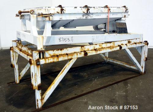 """Used- Rotex Screener, Model 422SANAL/SS, 304 Stainless Steel. 40"""" Wide x 56"""" long double deck, 3 separation. 15.5 Square fee..."""