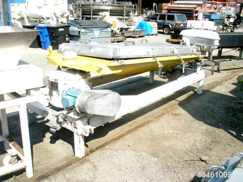 "Used: Rotex screener, model 431SAN-SS-SS, stainless steel. 40"" wide x 84"" long single deck, 2 separation. Clamp down top cov..."