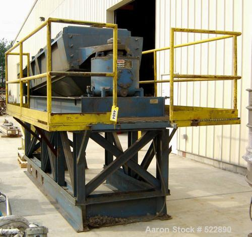 "USED: 40"" x 84"" four deck Rotex screener, carbon steel automatictension design, model 504-A-MS/MS. 7.5 hp, 1200 rpm drive."