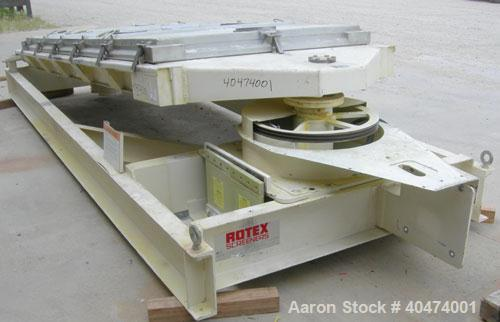 """Used- Rotex screener, model 521D SAN, 304 stainless steel. 60"""" wide x 144"""" long single deck, 2 separation. Clamp down top al..."""