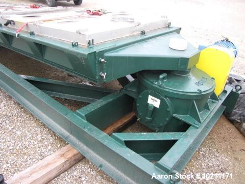 "Used- Rotex Screener. Model 522, Stainless Steel. 60"" wide x 144"" long double deck unit with a two-piece aluminum top cover...."