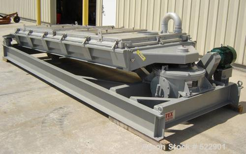 "USED: 60"" x 144"" two deck Rotex screener, model 522A-ALSS. 367 lbsupper weight, 183 lbs lower weight. Two piece aluminum cov..."