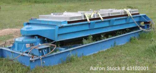 Used-Rotex 3 Deck Screener, Model 522A, 60 x 144.Three steel decks, aluminum top cover, makes 4 separations.