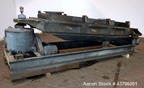 """Used- Rotex Screener, Model 802A, Carbon Steel. 40"""" Wide x 84"""" long double deck, 3 separation. 23.3 Square feet screen area,..."""