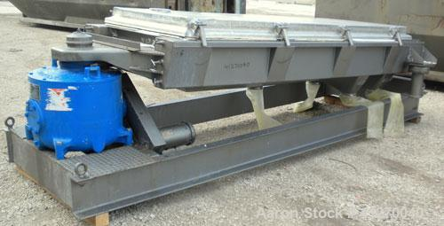 """Used- Rotex Screener, Model 803A-AL/SS, 304 Stainless Steel. Approximately 40"""" wide x 84"""" long triple deck, 4 seperation. Cl..."""