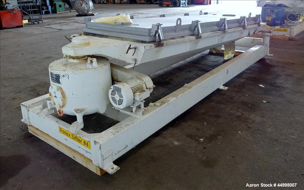 Used- Rotex Screener, Model 82-SAN-AL/SS, 304 Stainless Steel.