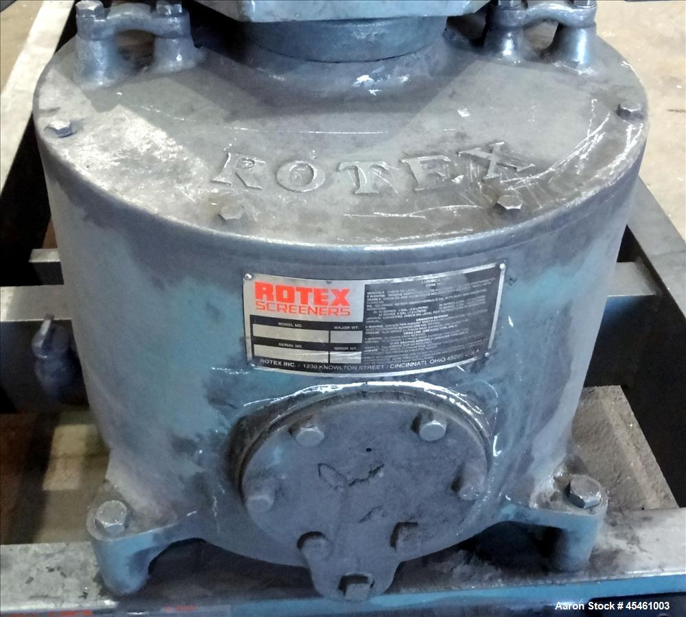 Used- Rotex Rectangular Screener Model 82A MS/MS