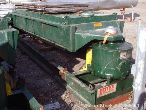 """Used- Rotex Screener, Model 83GP, Carbon Steel. 40"""" Wide x 120"""" long triple deck, 4 separation. Clamp down top cover, bottom..."""