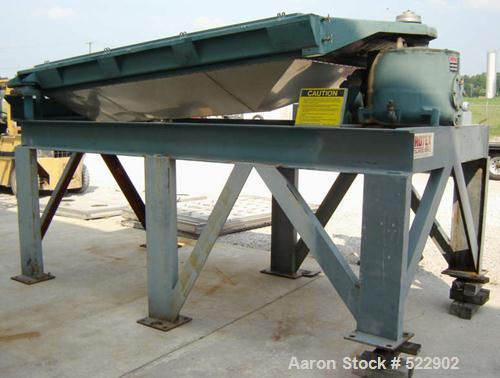 """USED: 60"""" x 84"""" two deck Rotex screener, model 842A-AL/SS. Automatictension design. Major weight 301, minor weight 147. Alum..."""