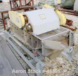 "USED:  Smico Rectangular Vibratory Screener, 304 Stainless Steel.  Approximately 21"" wide x 72"" long uphill, single deck, no..."