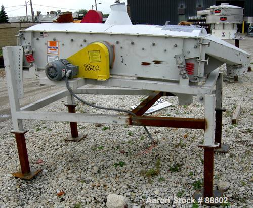 """USED: Smico screener, carbon steel, single deck, 2 separation, 36"""" wide x 72"""" long. Top cover. Driven by a 1 hp, 3/60/230/46..."""