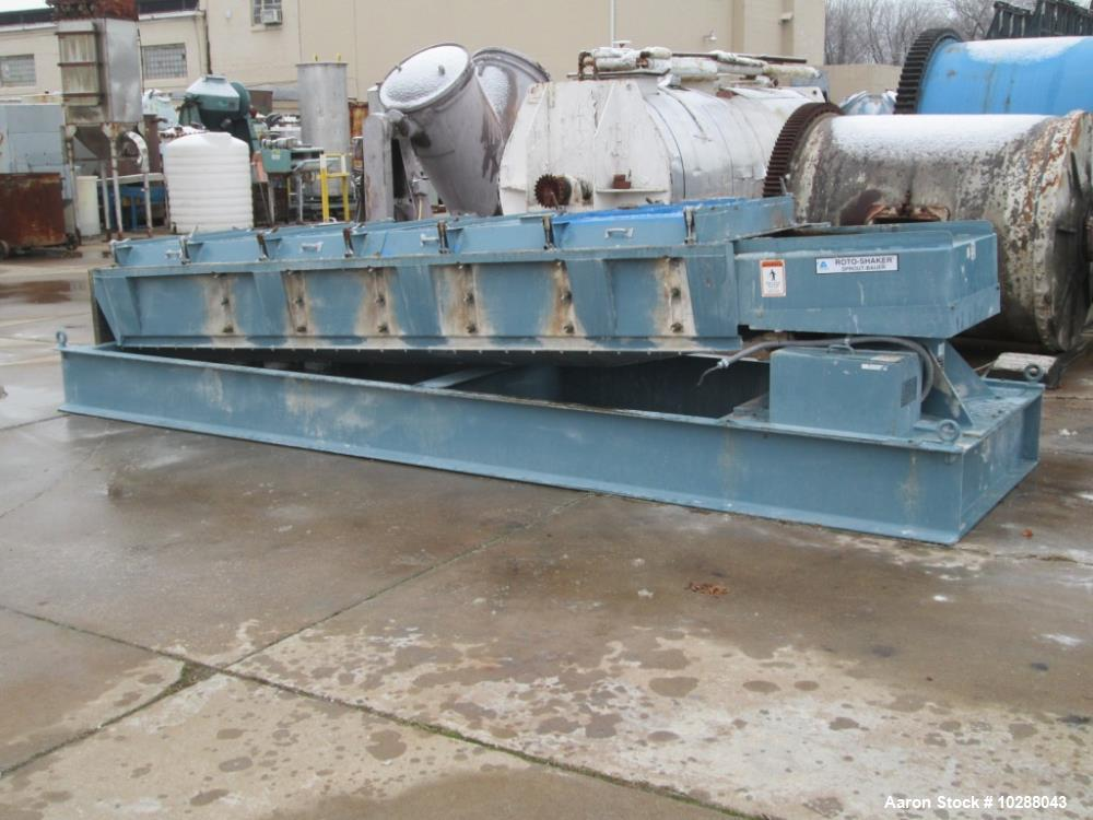 "Used- Sprout Bauer 3.5 x 10 Vibratory Screener. 3 deck, 4 discharge screener sifter, unit screen 36"" x 10"", milde steel cons..."