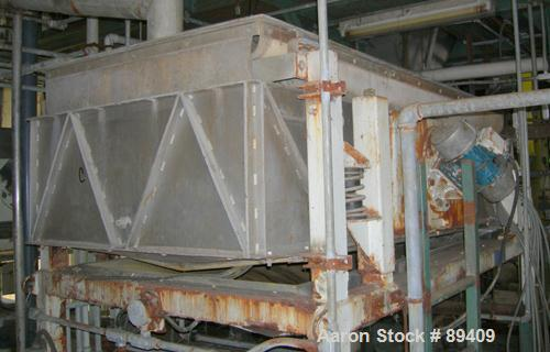 USED: Sweco Full Flow Ellipitical Motion Rectangular Separator, model EM-3A, pre-tension screen design, stainless steel. App...