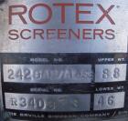 Used-Rotex Screener, Model 242-SAN.AL.SS. 304 Stainless steel, aluminum screens. 24 1/2