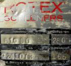 Used- Rotex cooler, model 81C50. 304 stainless steel. Approximately 48