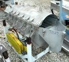 USED:Simplicity horizontal vibratory screener/scalper, model 2185-HSJA2, 316 stainless steel. Double deck 18